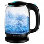 Чайник Kitfort KT-625-1, черно-голубой