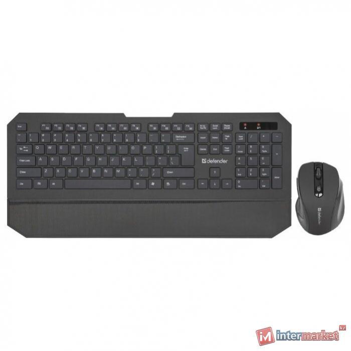 Комплект беспроводной клавиатура+мышь Defender Berkeley C-925 RU,черный