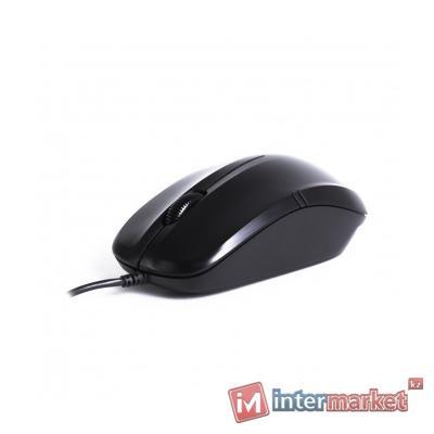 Компьютерная мышь, Delux, DLM-136OUB, Оптическая, USB, 1000dpi, Длина провода 1,6 м, Чёрная