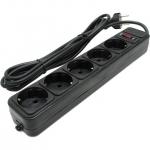 Сетевой фильтр Qmax SPG3-B-10, 3m, Black