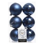 Шар синий глянцевый/матовый d8см 6шт/уп